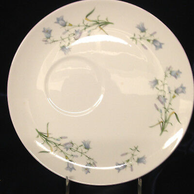 "ROSINA QUEENS WAYSIDE 8.25"" SNACK PLATE ONLY (NO CUP) Harebell Blue Flowers"