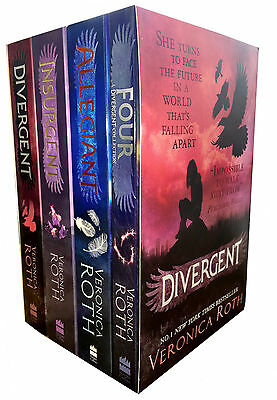 Veronica Roth Divergent Insurgent Allegiant Trilogy 4 Books Collection Set Class