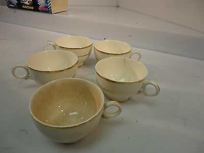 Lot of two (2) Duchess by Harker Tea Cups  - 22k gold trim