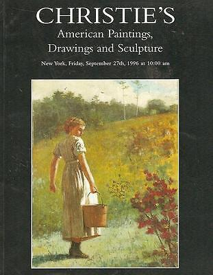 Christie's #8478 American Paintings Drawings Sculpture Auction Catalog 1996