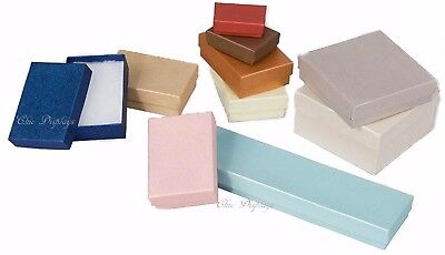 LOT OF 20~50~100 EMBOSSED COTTON FILLED BOX MIXED JEWELRY BOXES GIFT BOX  DEAL!