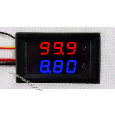 "1pcs Dual LED Display 0.28"" Digital Ammeter Voltmeter DC 0-100V 10A Meter s537"