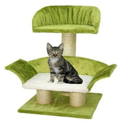 Kerbl Lounge Cat Scratching Post 42 X 37 70 Cm White/ Green New