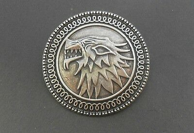 Game Of Thrones Shield Stark Button Pin Spilla Badge Trono Di Spade Wolf Dvd 1