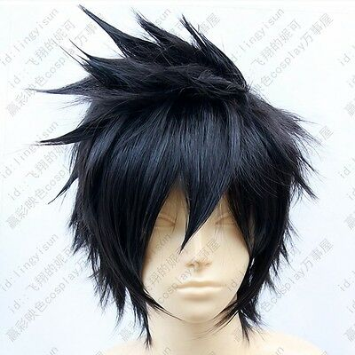 389 PSYCHO-PASS Kougami Shinya Short Black Cosplay Fashion Wig Free shipping