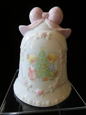 Precious Moments Christmas Bell Boy & Girl Decorating Tree ~ Songs of Joy