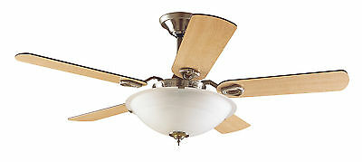 """Hunter 60"""" Contemporary Brushed Nickel Remote Control Ceiling Fan w/ Light"""