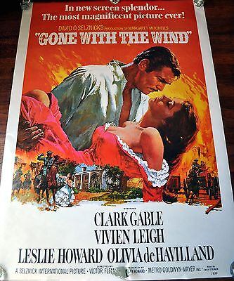 """""""Gone with the Wind"""" 1939 Movie Poster"""