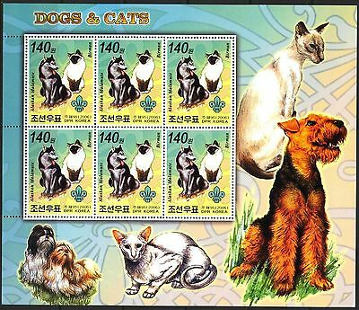2006 Cats & Dogs I Sheet of 6 MNH** cr