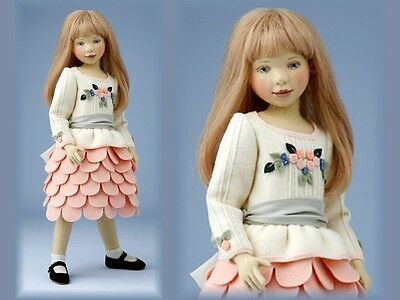 Charlotte ~ Beautiful Felt Doll Handcrafted By Maggie Iacono!!!