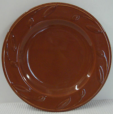 Signature SORRENTO CHOCOLATE BROWN  Salad Plate NICE! Multiple Available