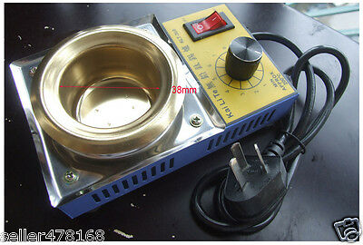 AC 220V 100W Φ 38MM Solder Pot 300g tin melting Furnace Titanium FREE SOLDERING