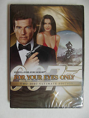 NEW! FOR YOUR EYES ONLY (DVD, 2008, 2-Disc Ultimate) Roger Moore James Bond 007