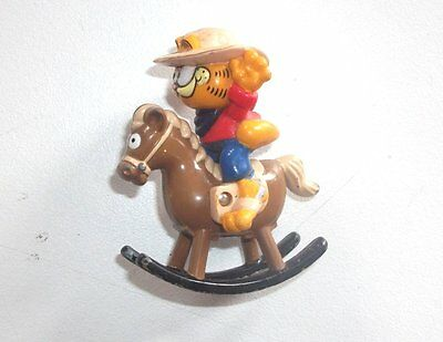 1981 - Vintage Garfield The Cat - COWBOY ROCKING HORSE by ERTL - (G2)