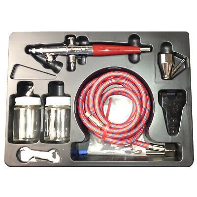 Paasche VLS SET Double Dual Action Siphon Feed Airbrush Kit Hobby Cake Tattoo