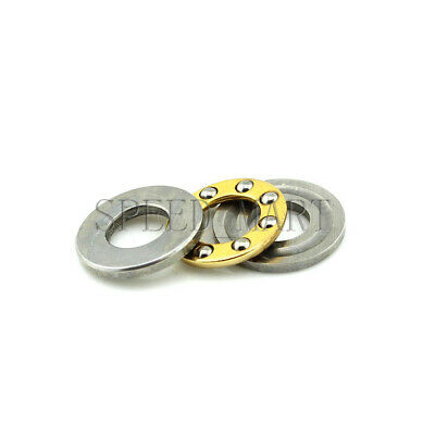 Axial Thrust Ball Bearings 8mm x 16mm x 5mm F8-16M Stainless Steel
