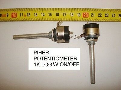 Potenciometro Carbon  Piher Potentiometer.  1K Log C/i W On/off. P17