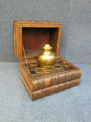 TANTALUS / DESK SET TROMPE L'OEIL good condition CAVE A LIQUOR, RARE FIND 1850+