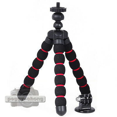 Flexible mini Tripod Red Bracket+ST-03 Mount Stand Adapter for Gopro HD Hero 2 3