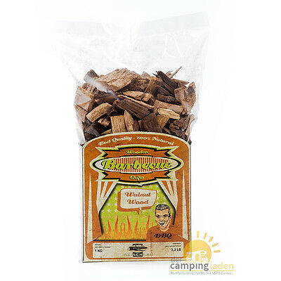 Axtschlag Walnut Smoking Chips - Walnuss Räucherholz 1Kg Kohle-Gas-Elektrogrill