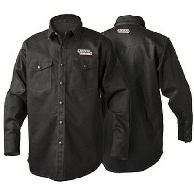 Lincoln K3113 Black Flame Retardent Welding Shirt Size Large K3113-L