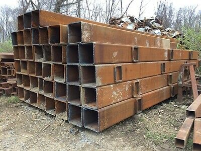 """16"""" x 33' Square Steel Box Tube/Tubing 9/16"""" Wall Approx. 128 lbs./ft."""