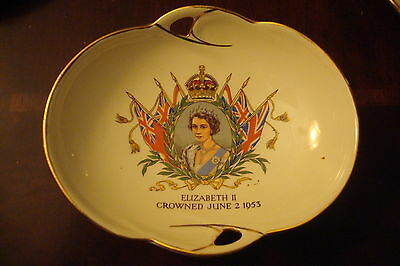 Royal Winton candy dish Elizabeth II Crowned June 2, 1953, made in England