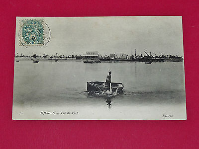 Cpa Carte Postale 1906 Colonies France Tunisie Maghreb Djerba Le Port