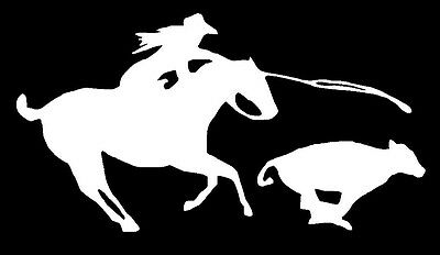 Roping Rodeo Decal Western Cowgirl Equestrian Car Window Horse Vinyl Sticker