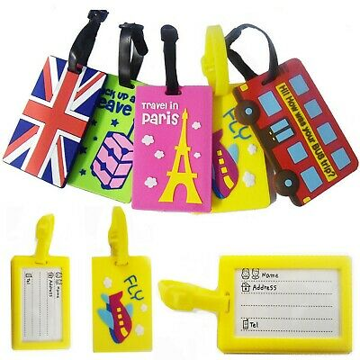 Reusable Luggage Tags Name Label Identification Badge Travel Suitcase Fancy Tag