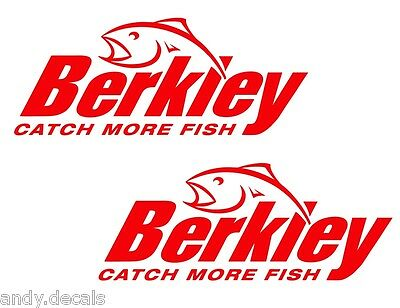 BERKLEY CATCH MORE FISH - Fishing Boat, Box Vinyl Decal Sticker D2