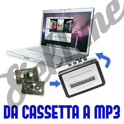 Convertitore Da Cassetta A Mp3 Walkman Audio Analogico Digitale Usb Adattatore