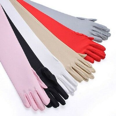 Ladies Long Caress Over Elbow Gloves, Fancy Dress, Role Play, Evening Wear