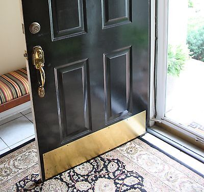 "1 Ives 11942 8400 US3 6"" x 34"" B4E Metal Door Protector Kick Plate BRIGHT BRASS"