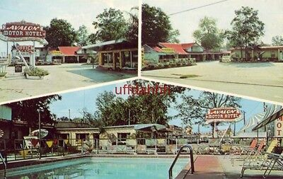 """AVALON MOTOR HOTEL, NEW ORLEANS, LA. 1965 """"One of the South's Most Modern"""""""