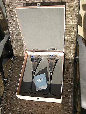 Brand New Marquis By Waterford Yours Truly Collection Wedding/toasting Glasses