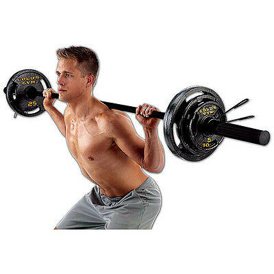 Gold's Gym 110 lb Olympic Weight Set Workout Gym Free Shipping NEW