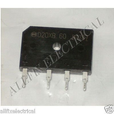 Panasonic Invertor 600Volt 20amp Bridge Rectifier - Part # AESTRBV6206, D20XB60