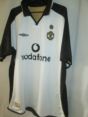 Manchester United Utd Centenary 2001-2002 Away 3rd Football Shirt Large /34304