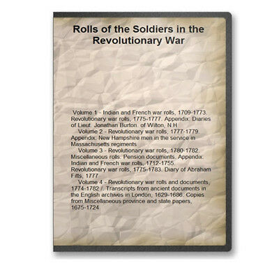 Rolls of the Soldiers in the Revolutionary War - 4 Volumes on CD B475