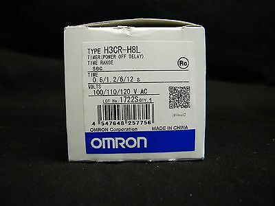 Omron H3CR-H8L -- Power OFF-Delay Timer 0-12S - 100 to 120 VAC