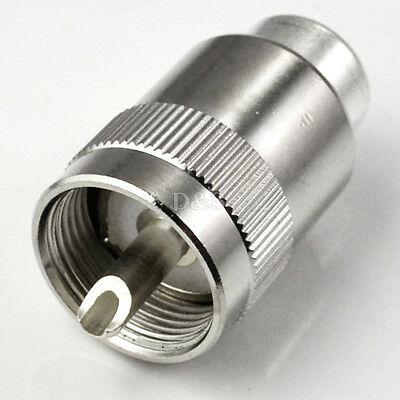 UHF PL259 SO239 male twist-on connector LMR400 RG8 RF Coaxial adapter connector