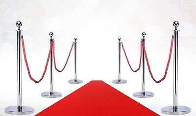 Vip Red Carpet Combo Special (6-Mirror Posts + 4- Ropes + 1-3'X10' Red Carpet)