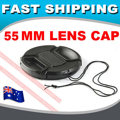 55mm Snap-on Front Lens Cap cover FOR sony a290 a390 a450 a580 a55 a57 a65 a77