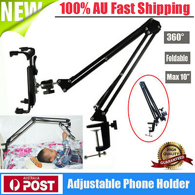 Folding 360ºrotating Telescopic Desk/Bed/Car Mount Holder For iPad Galaxy Tablet