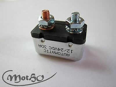 Harley Davidson Sicherung 30A Bi Metall Big Twin Softail XL Circuit Breaker 30A