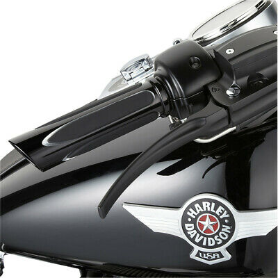 Arlen Ness Black Ano Deep Cut Soft-Touch Hand Grips Harley Throttle by Wire