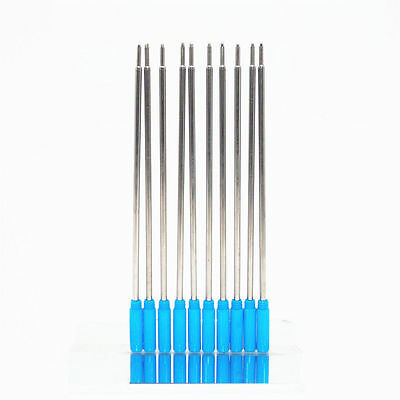 10pcs High quality  Blue ink Refills Medium Nib  Ballpoint Pen  New