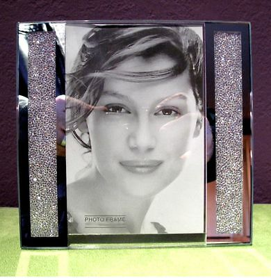 """Swarovski Crystal Filled Picture Frame for 5"""" x 7"""" Photo Size - Brand New!"""