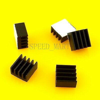 5pcs Black Heat Sink for StepStick A4988 Chip IC Thermal Adhesive 8.8*8.8*5mm